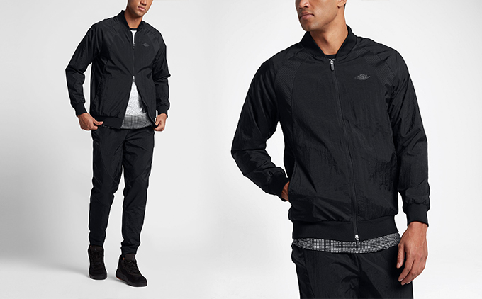 Mike in monochrome  NIKE AIR JORDAN WINGS WOVEN TRACKSUITS in black ... c3bf2dda12