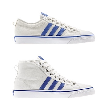 adidas Originals Nizza Hi Sneakers In White BZ0543