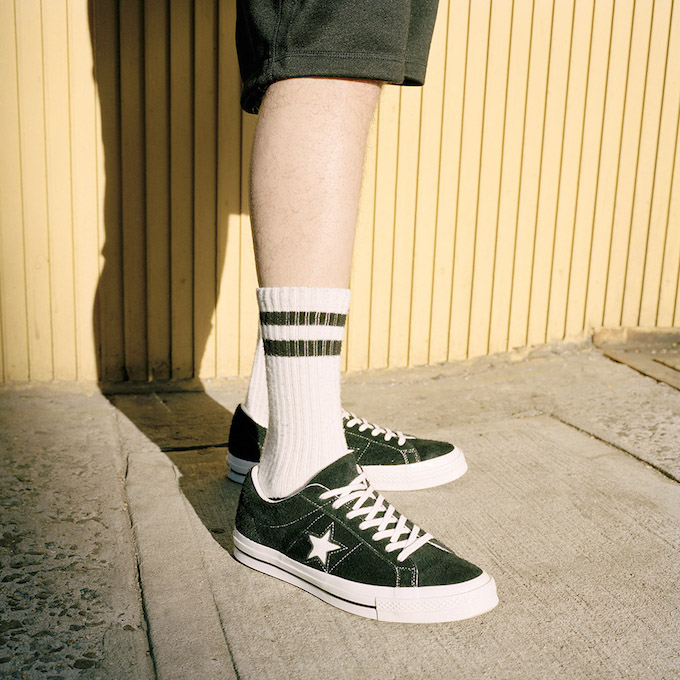 Converse One Star Premium Suede Ox On Foot Shots The