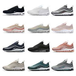 Womens Cheap Nike Air Max 97 OG QS Metallic Silver/Varsity Red Black