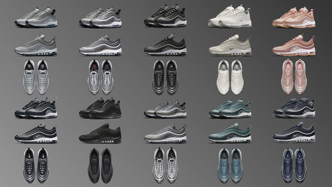 different nike air max