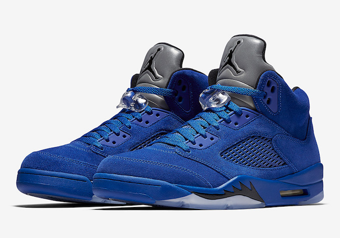 Don t Step On My... Nike Air Jordan 5 Retro Blue Suede Shoes - The ... 3ff343425