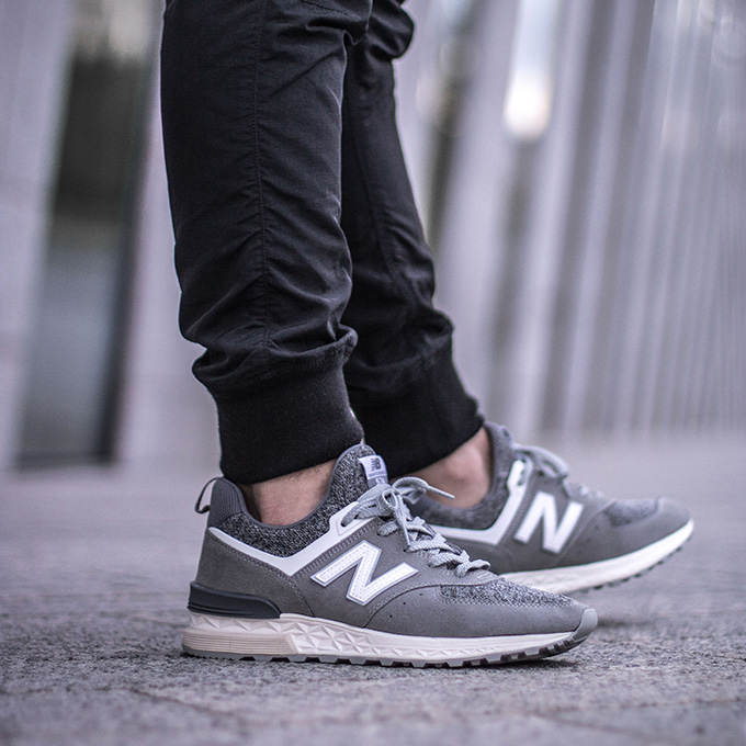 new balance 574 sport on feet