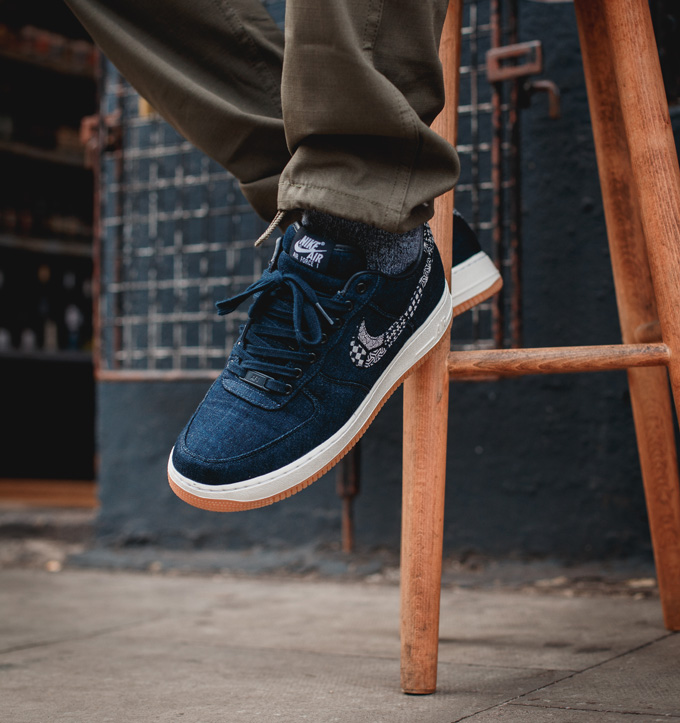 5b9902c7feb NikeiD Air Force 1 Low Premium Indigo Collection  On-Foot Shots ...