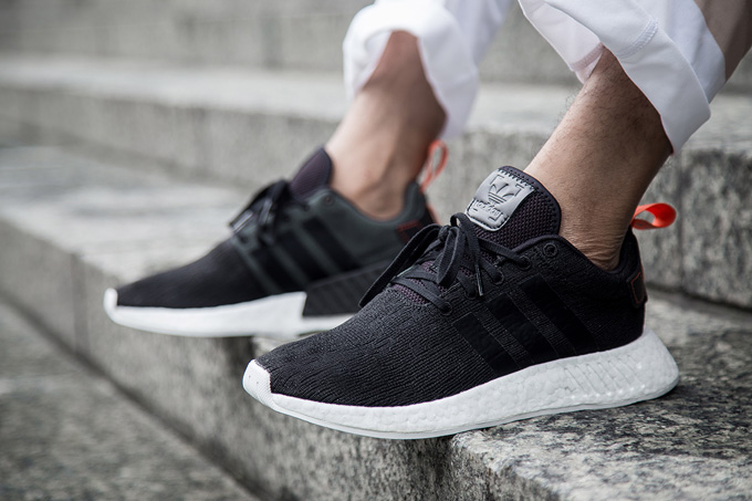 promo code a8b92 83485 adidas Originals NMD_R2 Core Black + Crystal White: On-Foot ...