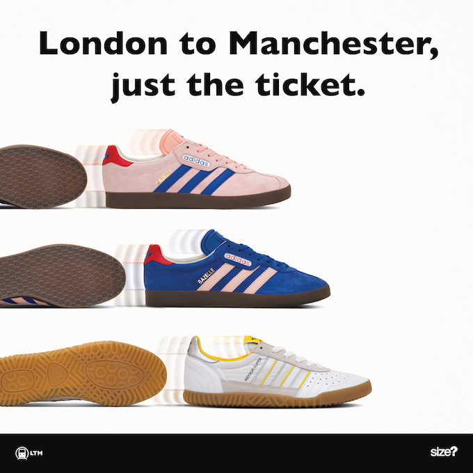 from a to b adidas originals archive london to manchester. Black Bedroom Furniture Sets. Home Design Ideas