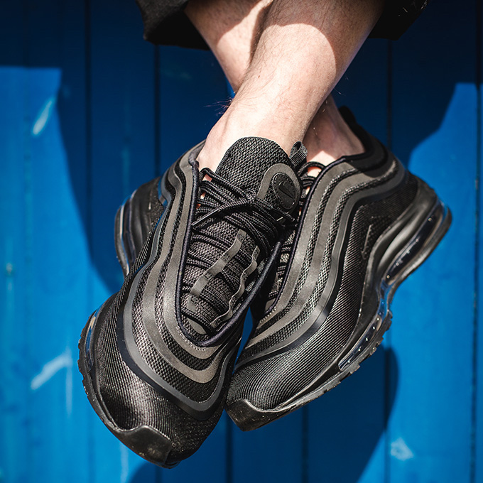 Nike Air Max 97 Ultra Triple Black  On-Foot Shots - The Drop Date 4466f38e8
