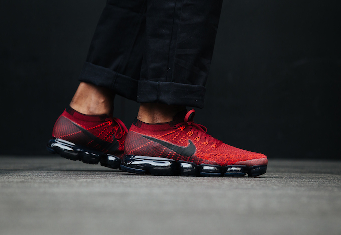 the best attitude 1fdda 5754f Nike Air VaporMax Flyknit Deep Red: On-Foot Shots - The Drop ...
