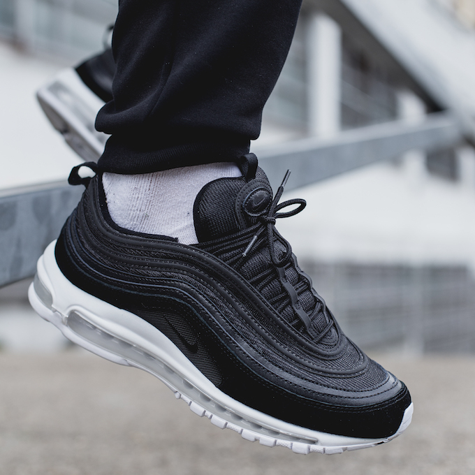 Nike Air Max 97 Black White On Foot Shots The Drop Date
