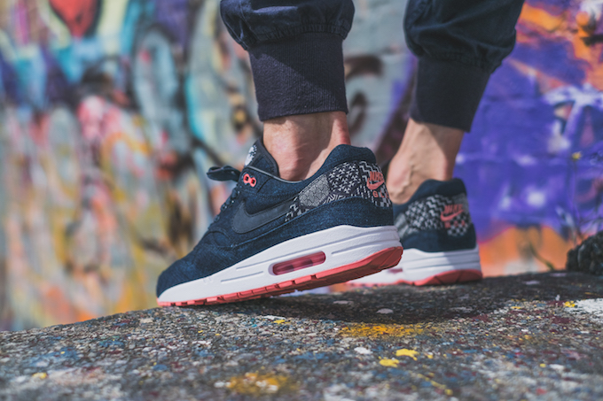 ec77bf69cf0 NIKEiD Air Max 1 Premium Indigo Collection  On-Foot Shots by ...