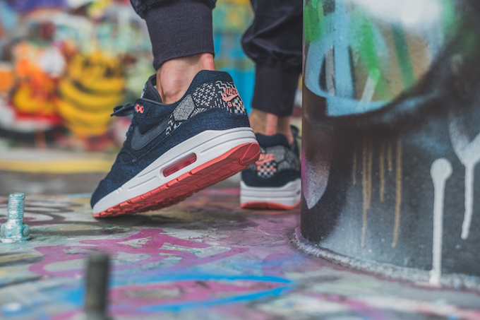 NIKEiD Air Max 1 Premium Indigo Collection: On Foot Shots by