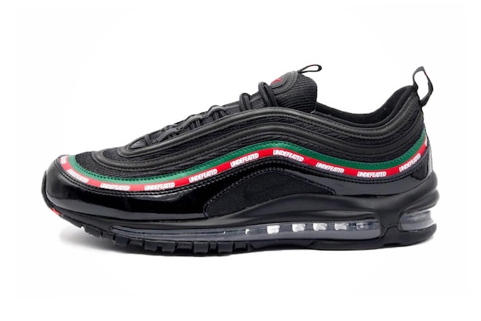 best sneakers c3a2e 72a05 Gucci Stripes: Undefeated Nike Air Max 97 - The Drop Date