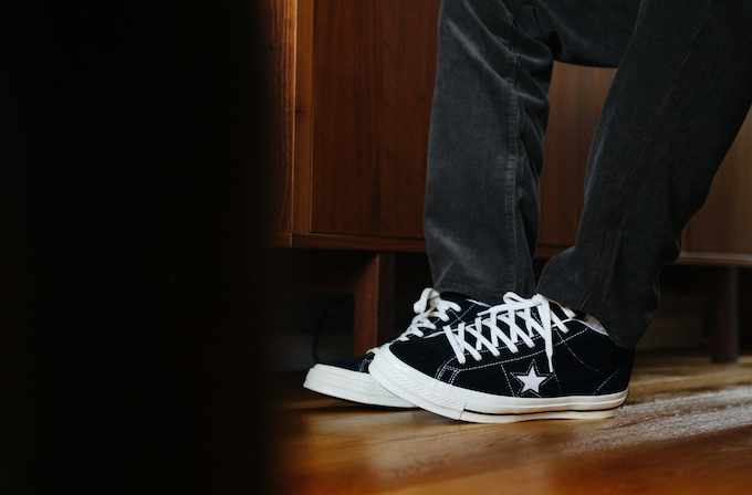 Converse One Star Mid Vintage Suede: On Foot Shots The