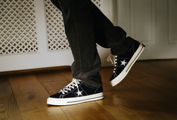 Converse One Star Mid Vintage Suede On Foot Shots The