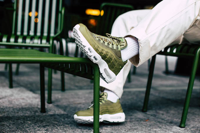 The Nike Air Max 95 Essential Trooper: On Foot Shots The