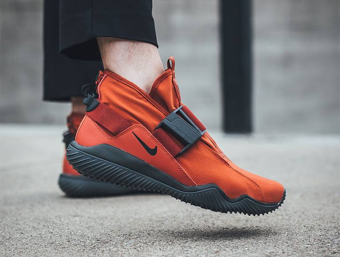 5672859707fc The NikeLab Komyuter PRM Dragon Red Sets Autumn Ablaze - The Drop Date