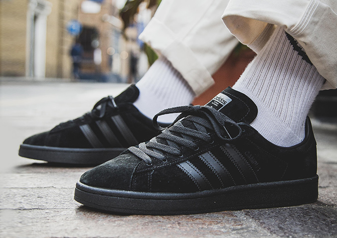 adidas Originals Campus Triple Black  On-Foot Shots - The Drop Date 01d9244e78