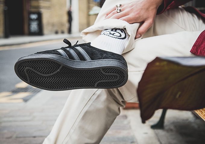 1d7a25d4ab88 adidas Originals Campus Triple Black  On-Foot Shots - The Drop Date