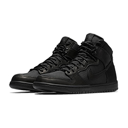 f6978875906 Slick and Skateable  Nike SB Dunk High Triple Black