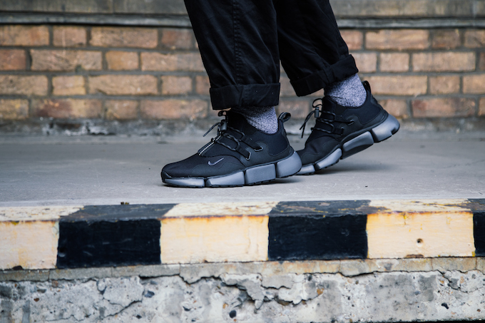 low cost dae16 eac81 Nike Pocket Knife DM Black Grey On Foot Shots The Drop Date