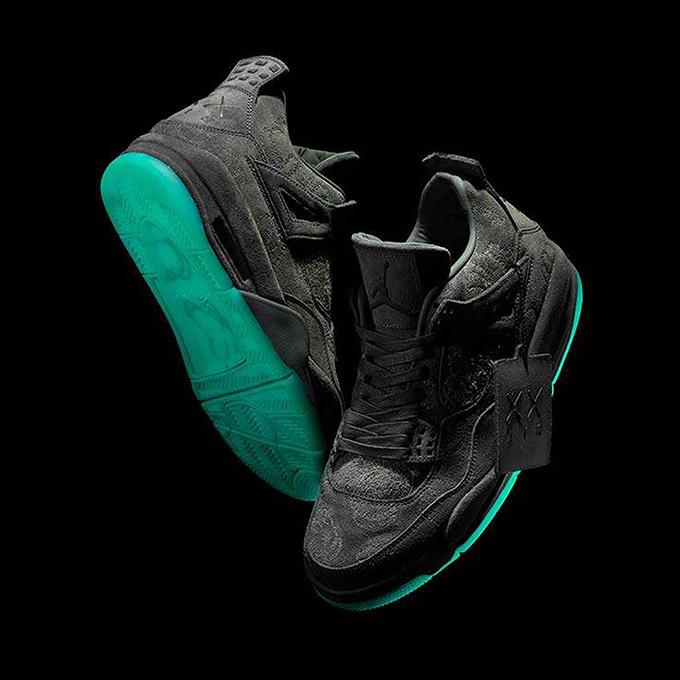 d66a5002353 Nike Air Jordan 4 Retro KAWS Black. shop jordan retro collection. Images   CONCEPTS.