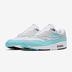 aac815df969e Take Another Chance on the Nike Air Max 1 Aqua   Purple