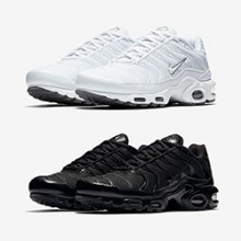 The Nike Air Max Plus is Releasing in Triple Black and Triple White 0aa7d3c93