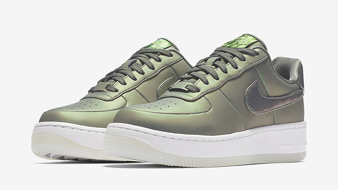 Nike Air Force 1 gray shimmergreen