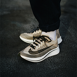f1fbb9622b0b52 NikeLab Zoom Fly SP Dark Loden  On-Foot Shots