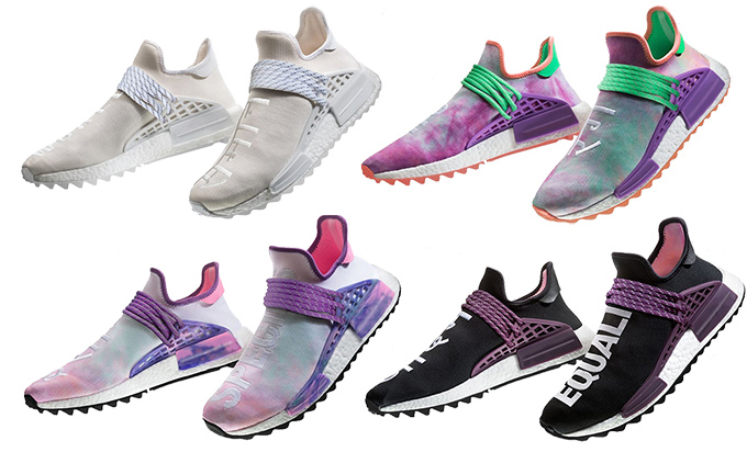 2b595649c6dfd Pharrell x adidas NMD Hu Trail Holi. The forthcoming ADIDAS ORIGINALS x PHARRELL  WILLIAMS HU HOLI NMD collection celebrates ...
