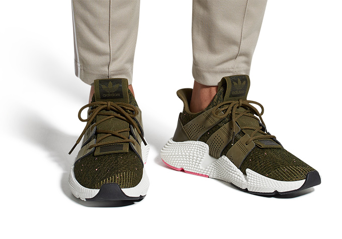 timeless design e3fc0 53b62 Available Now adidas Originals Prophere Trace Olive and Chal
