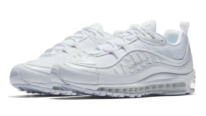 best sneakers 25d2d 9c7ac Nike Air Max 98 Celebrations Continue in Triple White - The ...