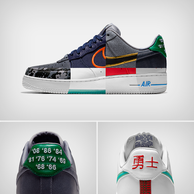 Nike id air force Neon Rainbow Nba Nikeid Air Force 1 Rep Your Colours Freshness Mag Nba Nikeid Air Force 1 Rep Your Colours The Drop Date