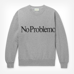 Get optimistic with the ARIES 'NO PROBLEMO' SWEATSHIRT, straight from the mind of Fergus Purcell AKA Fergadelic AKA the chap who designed the Palace logo.