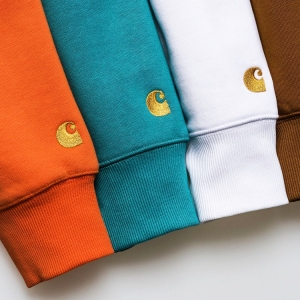 Get in the mood for spring with these boldly-coloured hoodies, sweats and tees from the CARHARTT WIP CHASE PROGRAM. Click the thumbnail to shop the drop.