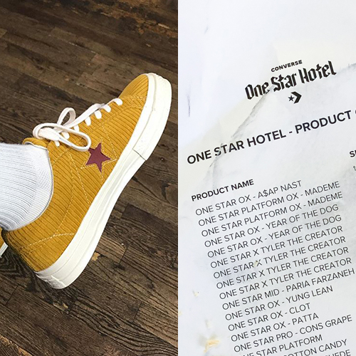 db8f32e36c7a33 Is this a leaked product list for the CONVERSE ONE STAR HOTEL event  - The  Drop Date