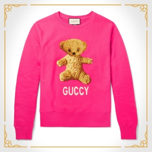 Incorrect spelling ain't cheap, but if you start saving up now, you might be able to buy this GUCCI SWEATSHIRT for Valentine's Day next year.