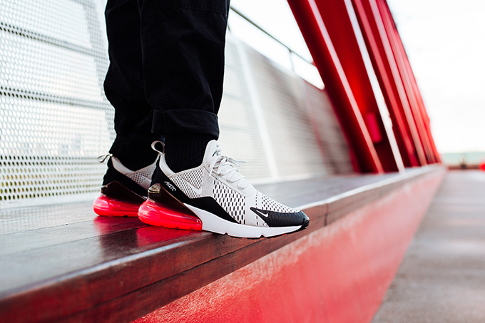 nike air max 270 light bone on feet