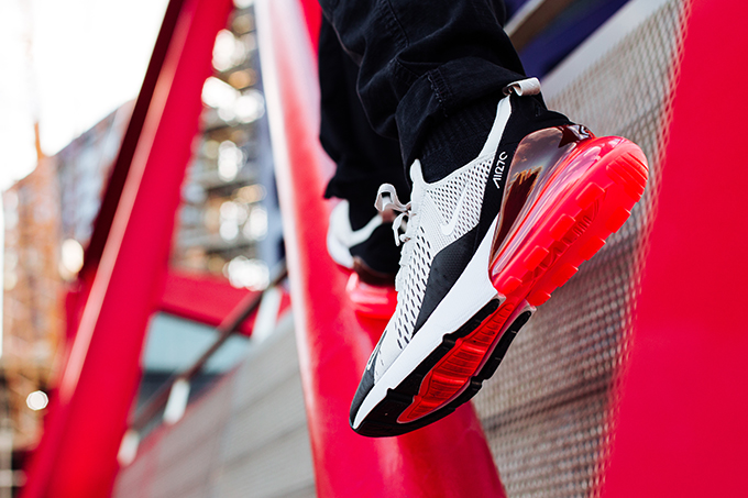 3f3656d55d65 Nike Air Max 270 Light Bone and Hot Punch  On-Foot Shots - The Drop Date