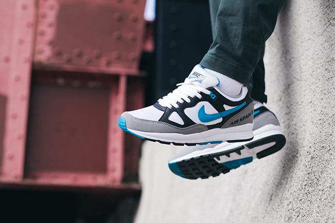Nike Air Span II Laser Blue  On-Foot Shots - The Drop Date bf839b7e8