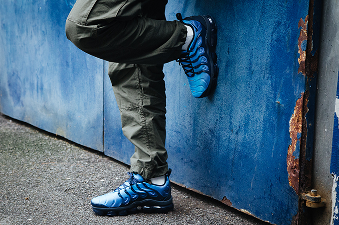 size 40 63542 ff6e2 Nike Air VaporMax Plus Photo Blue: On-Foot Shots - The Drop Date
