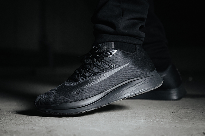 23feb32d3696d Nike Zoom Fly Triple Black  On-Foot Shots - The Drop Date
