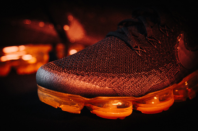 c27bfcfb543d A Closer Look at the Nike Air VaporMax Flyknit Black Pop - The Drop Date