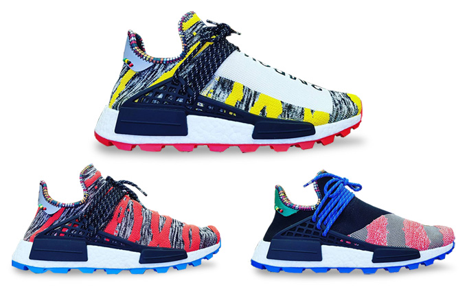 new styles 93714 e0df9 adidas Originals x Pharrell Williams NMD Hu Afro Pack