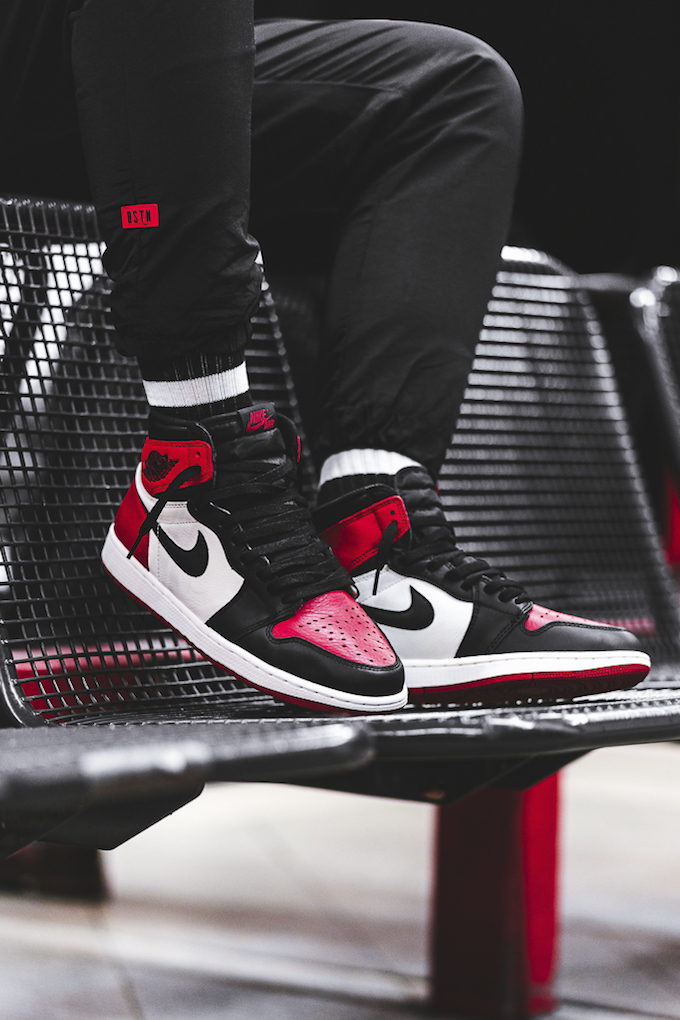watch on feet images of reasonable price The Nike Air Jordan 1 Retro High OG Bred Toe: On-Foot Shots ...
