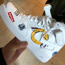 8d95136985a1 Check out the Supreme x Nike Air Force 1 Mid in White. February 21st ...