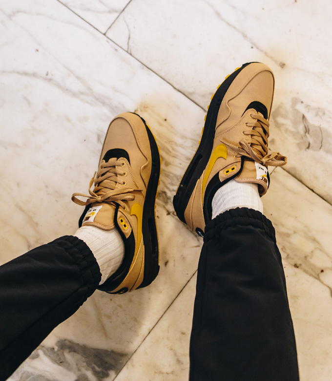 Nike Air Max 1 Elemental Gold: On Foot Shots The Drop Date