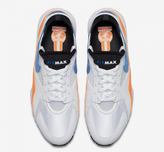san francisco e4ae7 46101 Nike Air Max 93 Blue Nebula Total Orange 4