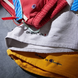 Not content with taking the artistic helm at Louis Vuitton, Virgil has dropped another batch of OFF-WHITE X CHAMPION releases. Click the pic to shop.