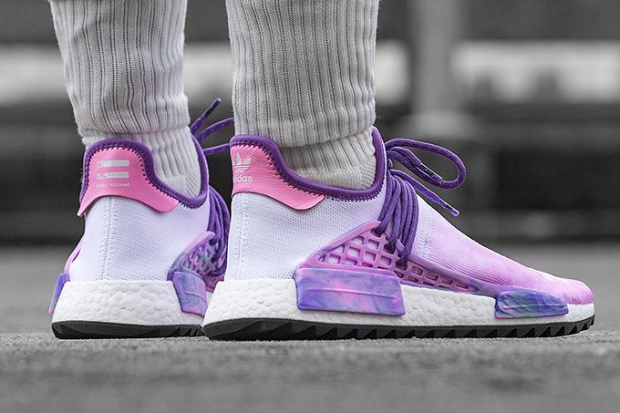 55dba18f1b2e9 Pharrell Williams x adidas Originals Hu Holi NMD Powder Dye Pack  On ...